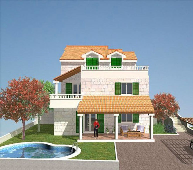 sch ne haus in brac insel immobilien kroatien. Black Bedroom Furniture Sets. Home Design Ideas